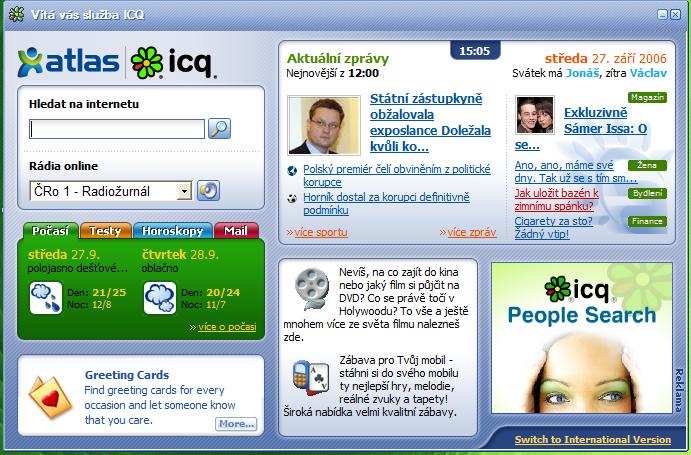 Zkoušel jsem ICQ od Atlasu