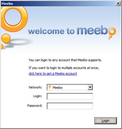 Meebo vystupuje z okna prohlížeče